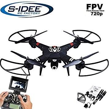 s-idee® 01660 Quadrocopter S303 FPV 5.8 Ghz Übertragung HD Kamera Höhenstabilisierung, Drohne mit On